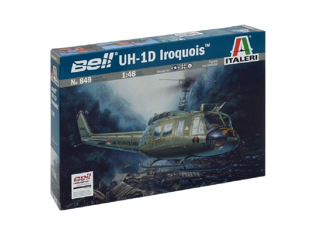 1/48 Plastikový model - vrtuľník 0849 - UH-1D SLICK