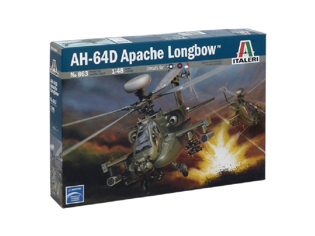 1/48 Plastikový model - vrtuľník 0863 - AH-64 D APACHE LONGBOW