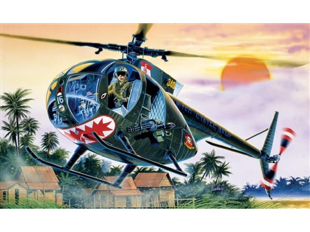 1/72 Plastikový model - vrtuľník 1028 - OH-6 A CAYUSE