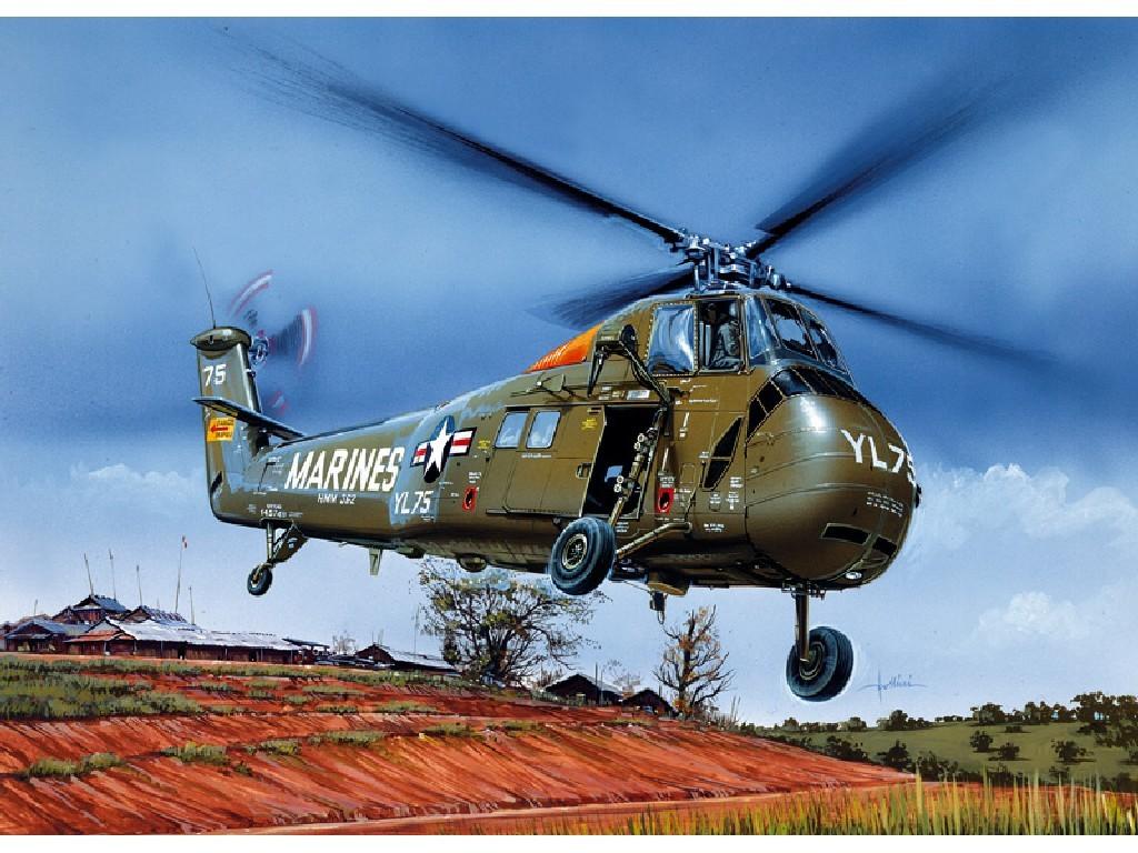 1/72 Plastikový model - vrtuľník 1066 - UH-34J SEA HORSE