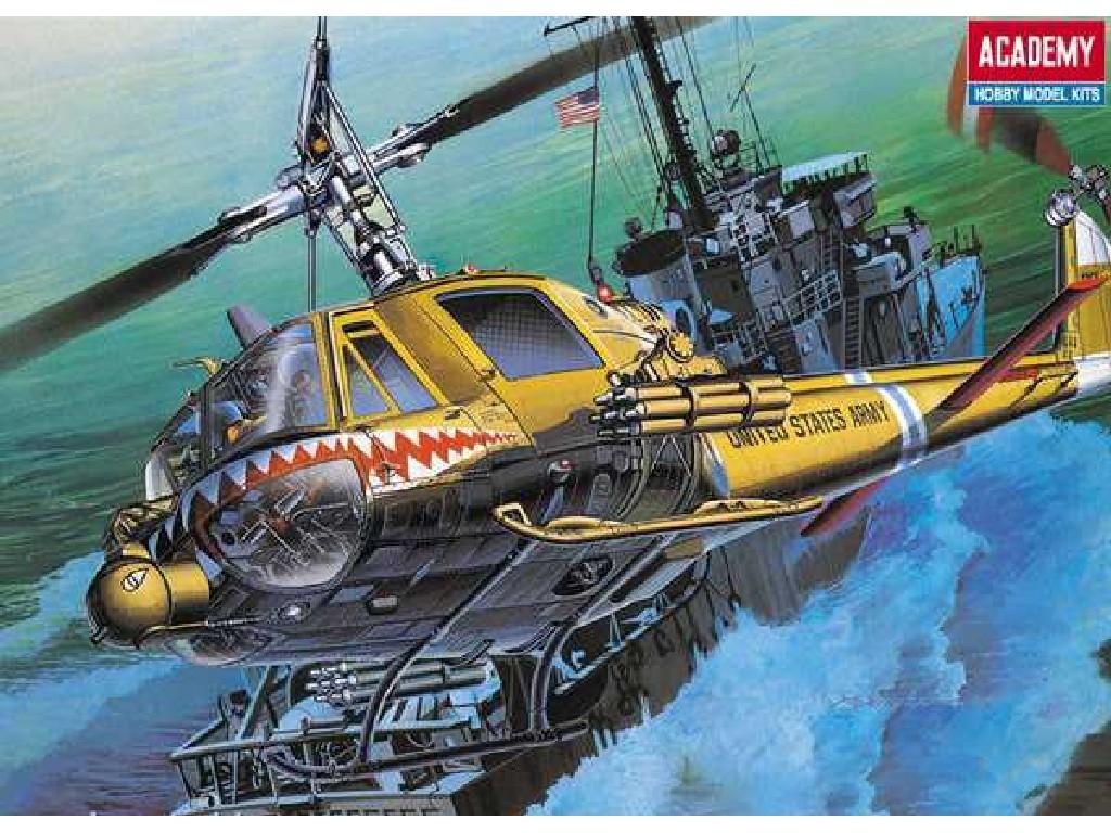 1/35 Plastikový model - vrtulník 12112 - U.S.ARMY UH-1C FROG