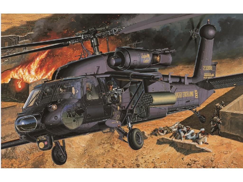 1/35 Plastikový model - vrtulník 12115 - AH-60L DAP