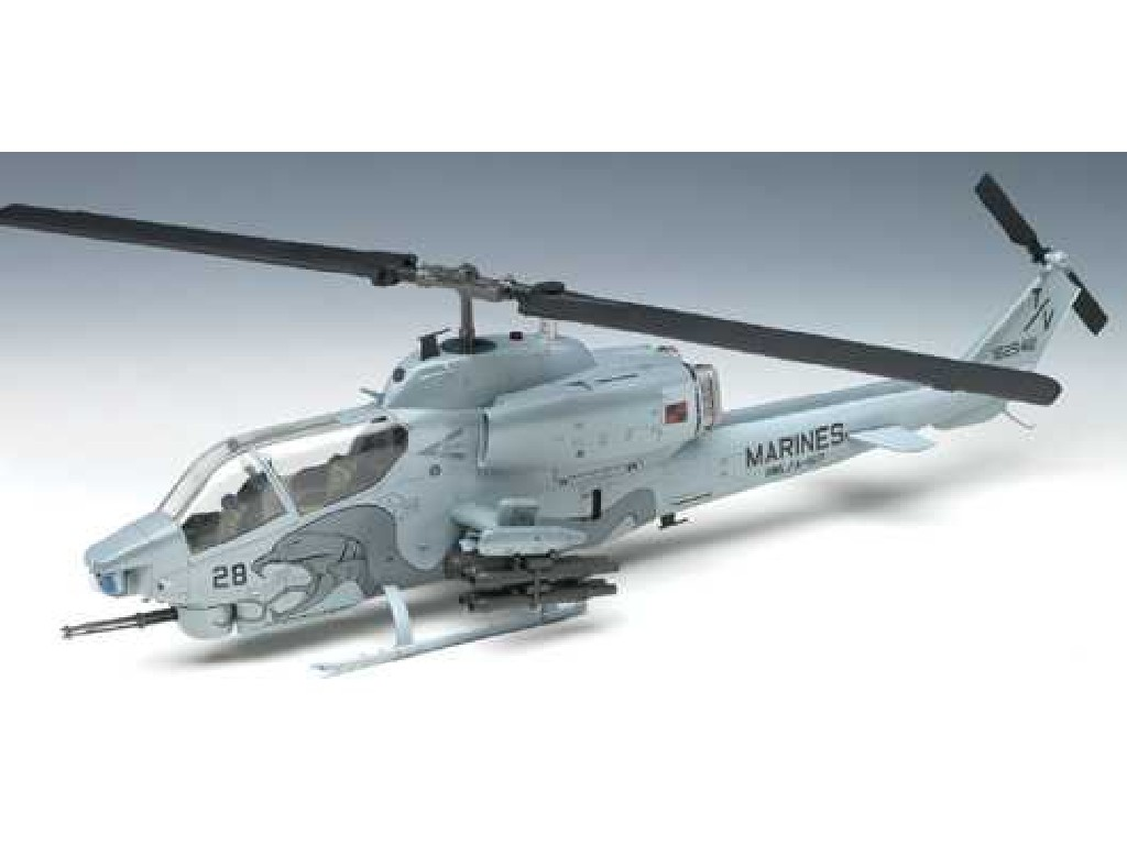 1/35 Plastikový model - vrtuľník 12116 - USMC AH-1W NTS UPDATE