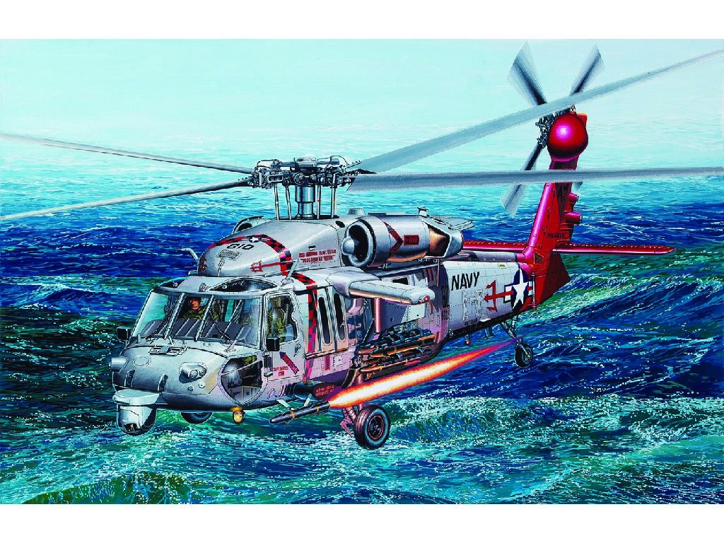 1/35 Plastikový model - vrtulník 12120 - MH-60S HSC-9 Tridents