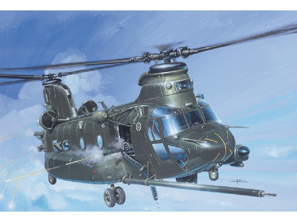 1/72 Plastikový model - vrtuľník 1218 - MH-47 E SOA CHINOOK TM