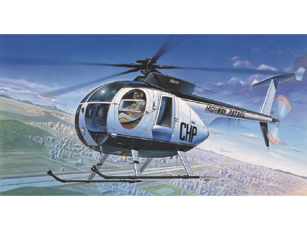 Academy - vrtulník 12249 - HUGHES 500D POLICE HELICOPTER 1:48