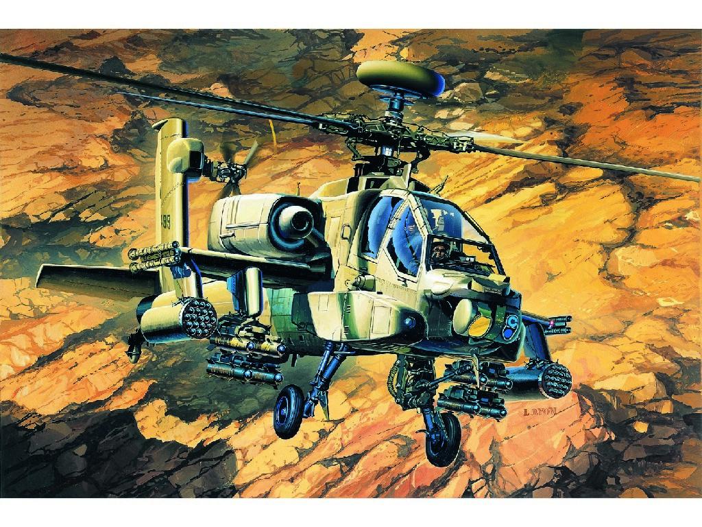 1/48 Plastikový model - vrtuľník 12262 - AH-64A