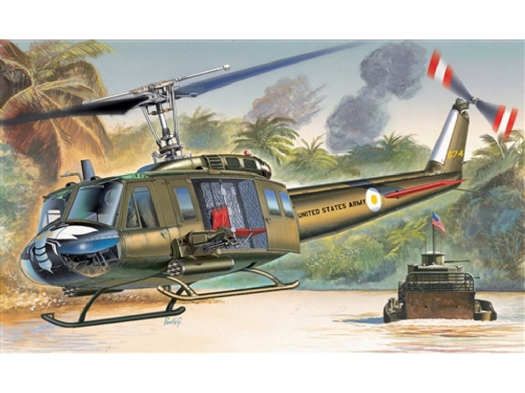 1/72 Plastikový model - vrtuľník 1247 - UH-1D IROQUOIS