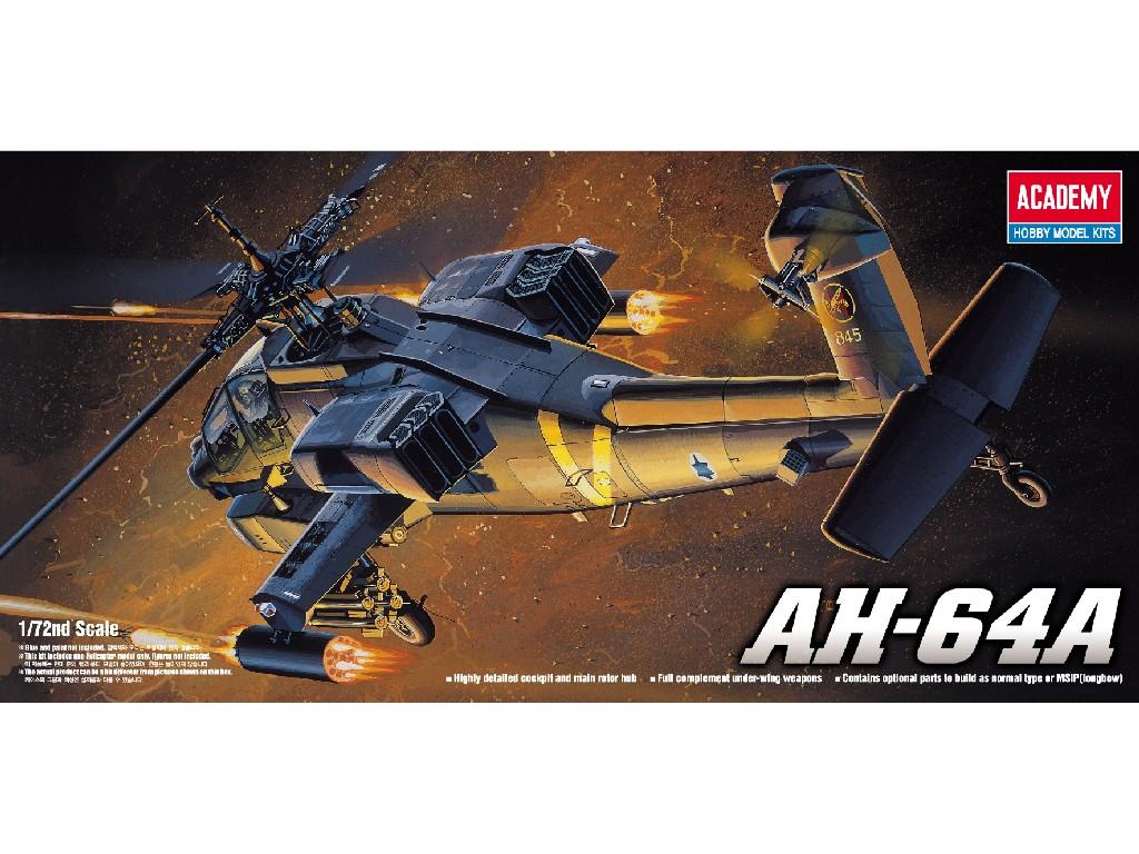 1/72 Plastikový model - vrtuľník 12488 - AH-64A