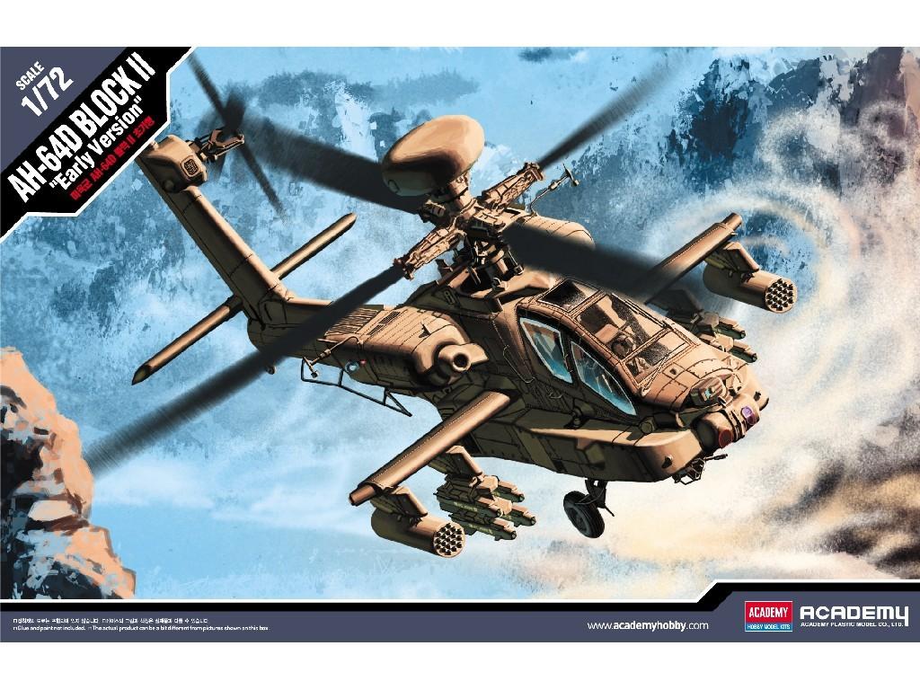 1/72 Plastikový model - vrtuľník 12514 - U.S. ARMY AH-64D