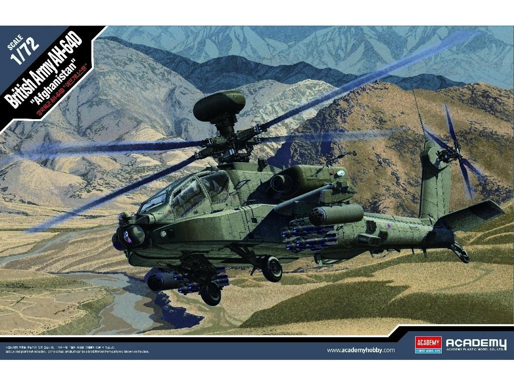 1/72 Plastikový model - vrtuľník 12537 - British Army AH-64 Afghanistan