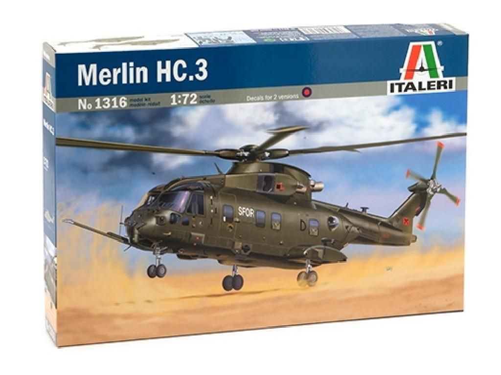 1/72 Plastikový model - vrtuľník 1316 - MERLIN HC.3