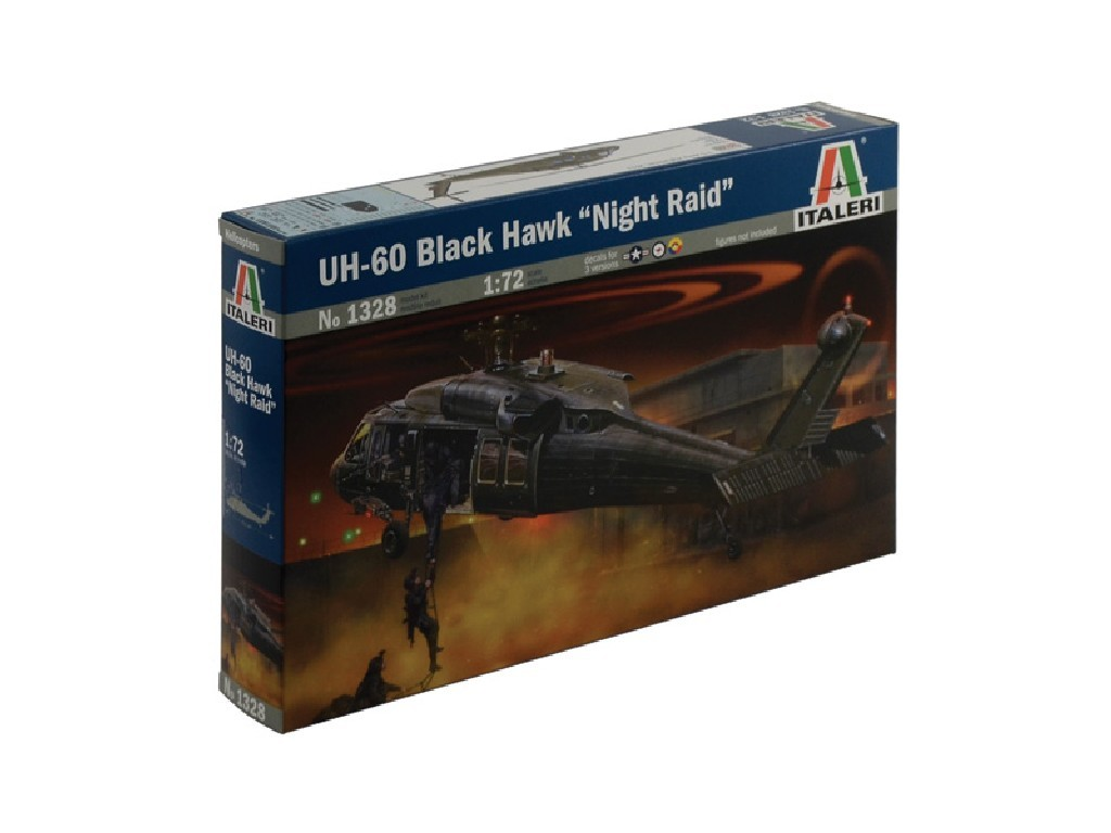 1/72 Plastikový model - vrtuľník 1328 - UH-60/MH-60 BLACK HAWK NIGHT RAID