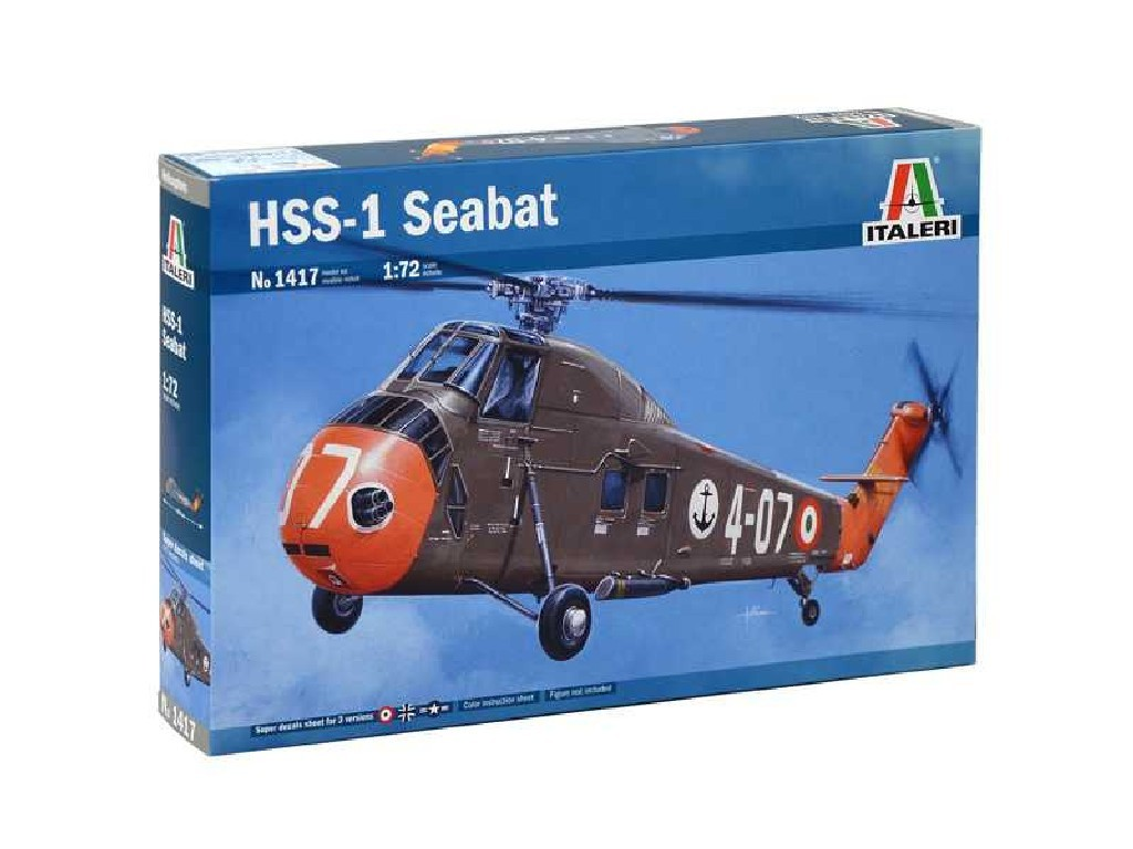 1/72 Plastikový model - vrtuľník 1417 - HSS-1 Seabat