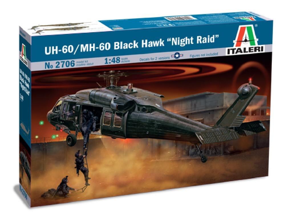 1/48 Plastikový model - vrtuľník 2706 - UH-60/MH-60 NIGHT RAID