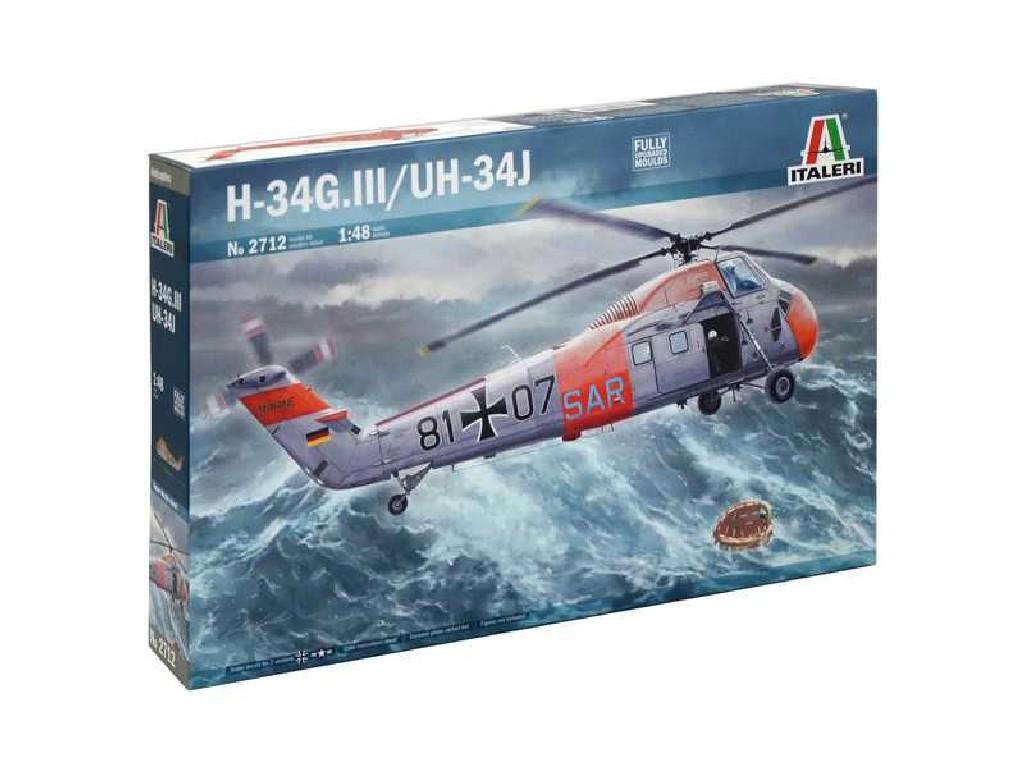 1/48 Plastikový model - vrtuľník 2712 - UH-34J