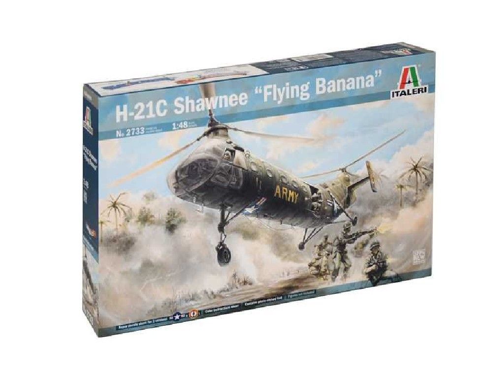 1/48 Plastikový model - vrtuľník 2733 - H-21C Shawnee Flying Banana