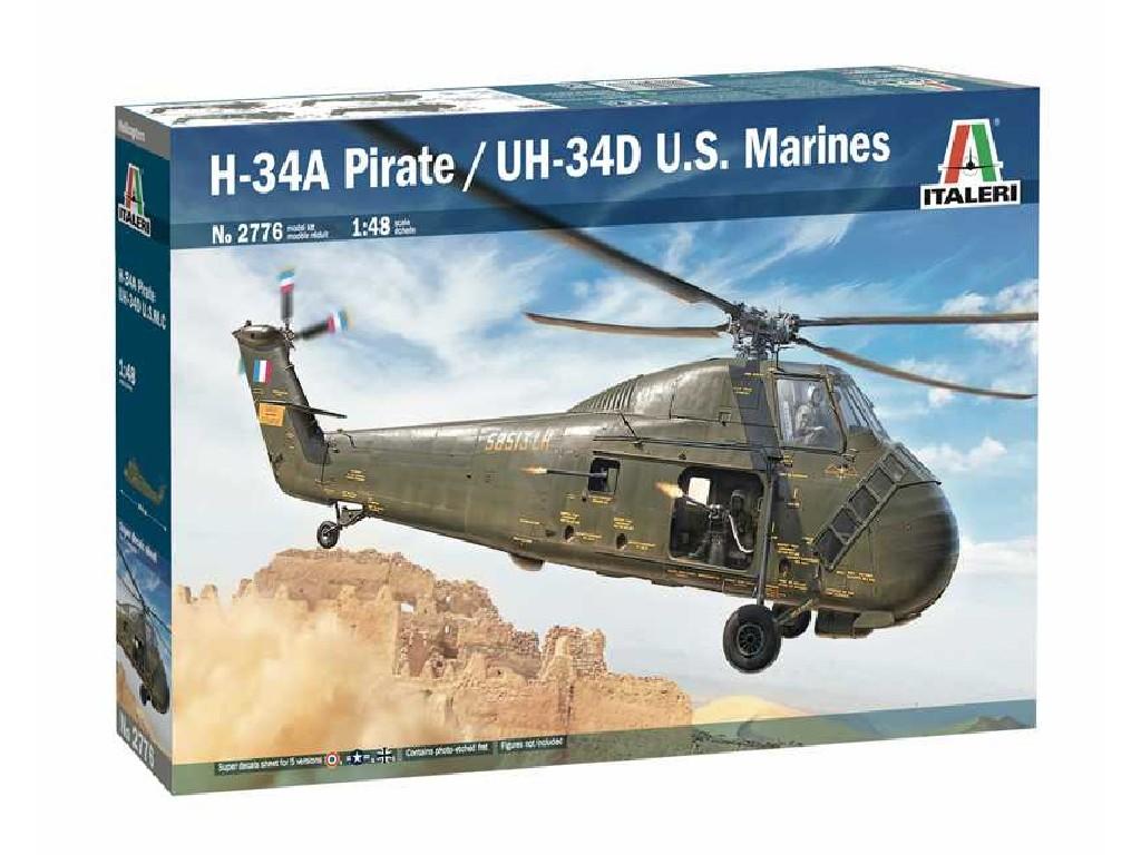 1/48 Model Kit vrtulník 2776 - H-34A Pirate /UH-34D U.S. Marines