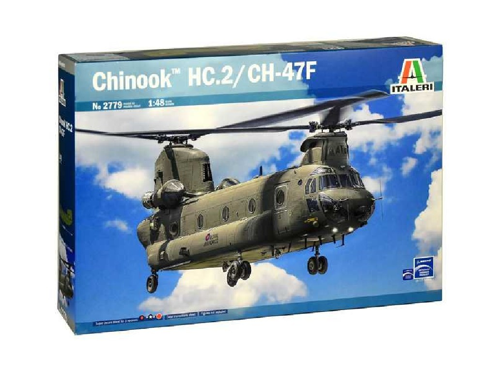 1/48 Plastikový model - vrtuľník 2779 - CHINOOK HC.2 CH-47F