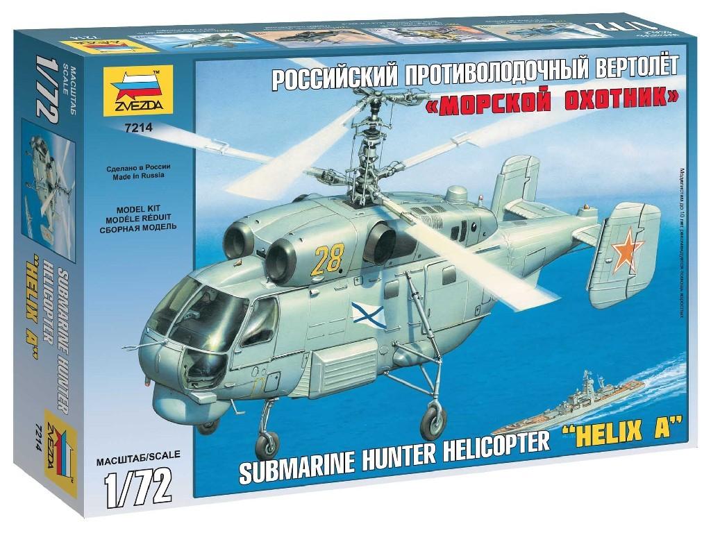 1/72 Plastikový model - vrtuľník 7214 - Kamov KA-27 Submarine Hunter