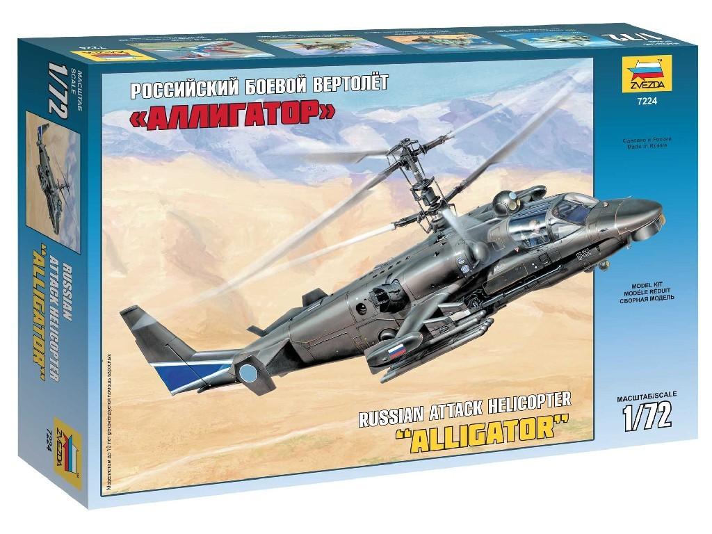 1/72 Plastikový model - vrtuľník 7224 - Kamov Ka-52 Alligator Combat Helicopter