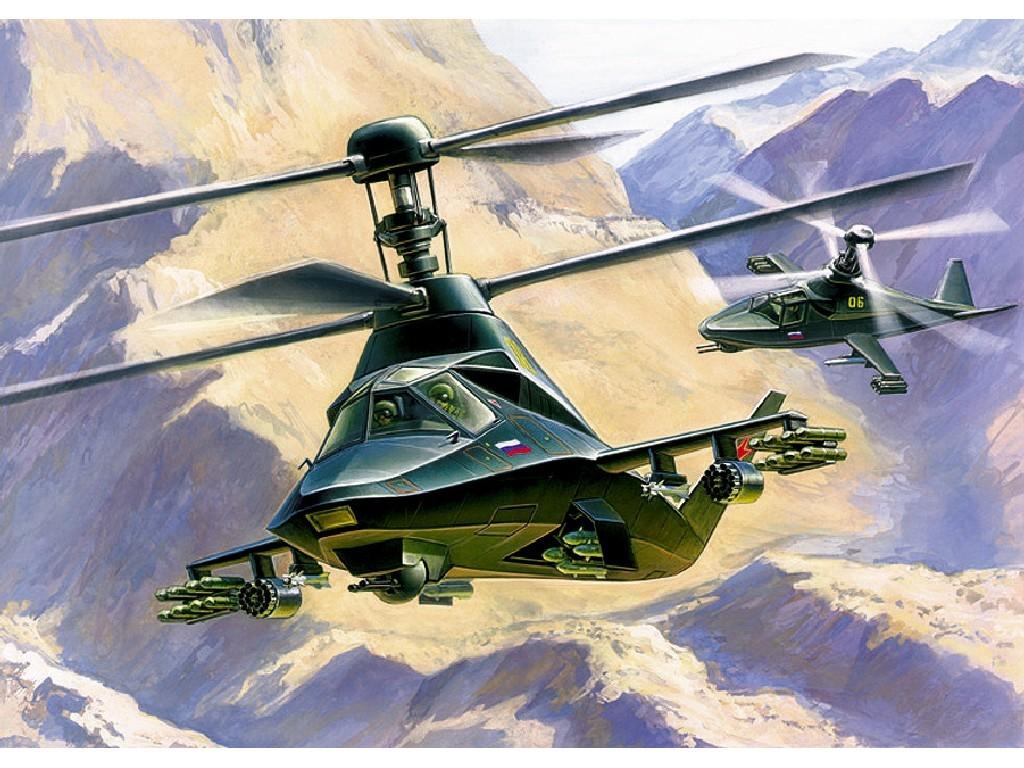 1/72 Plastikový model - vrtuľník 7232 - Kamov KA-58 Black Ghost