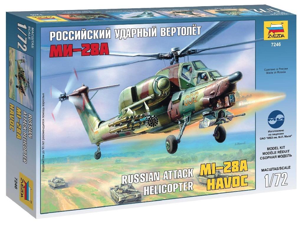 1/72 Plastikový model - vrtuľník 7246 - MI-28A HAVOC