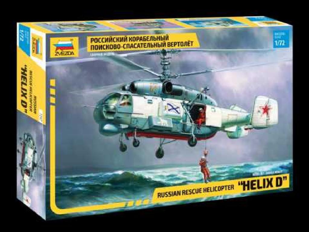 1/72 Plastikový model - vrtuľník 7247 - KA-27 Rescue Helicopter (RR)