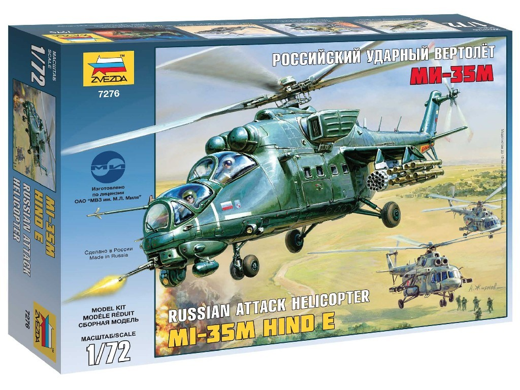 1/72 Plastikový model - vrtuľník 7276 - Mil MI-35M HIND E