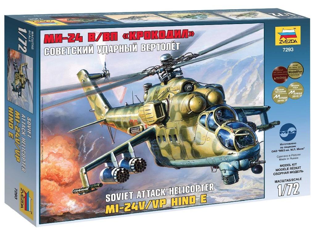 1/72 Plastikový model - vrtuľník 7293 - MIL MI-24V/VP Hind E