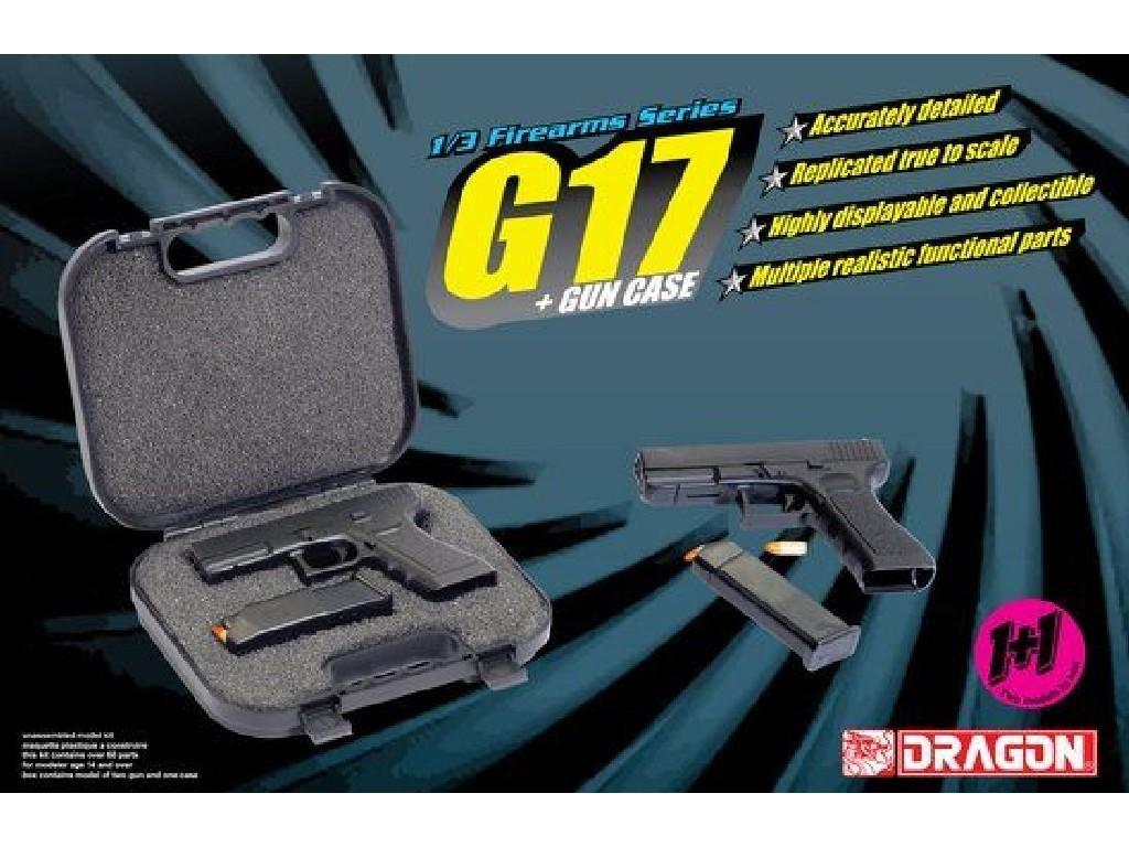 1/3 Plastikový model - zbraň 1301 - G17 + GUN CASE