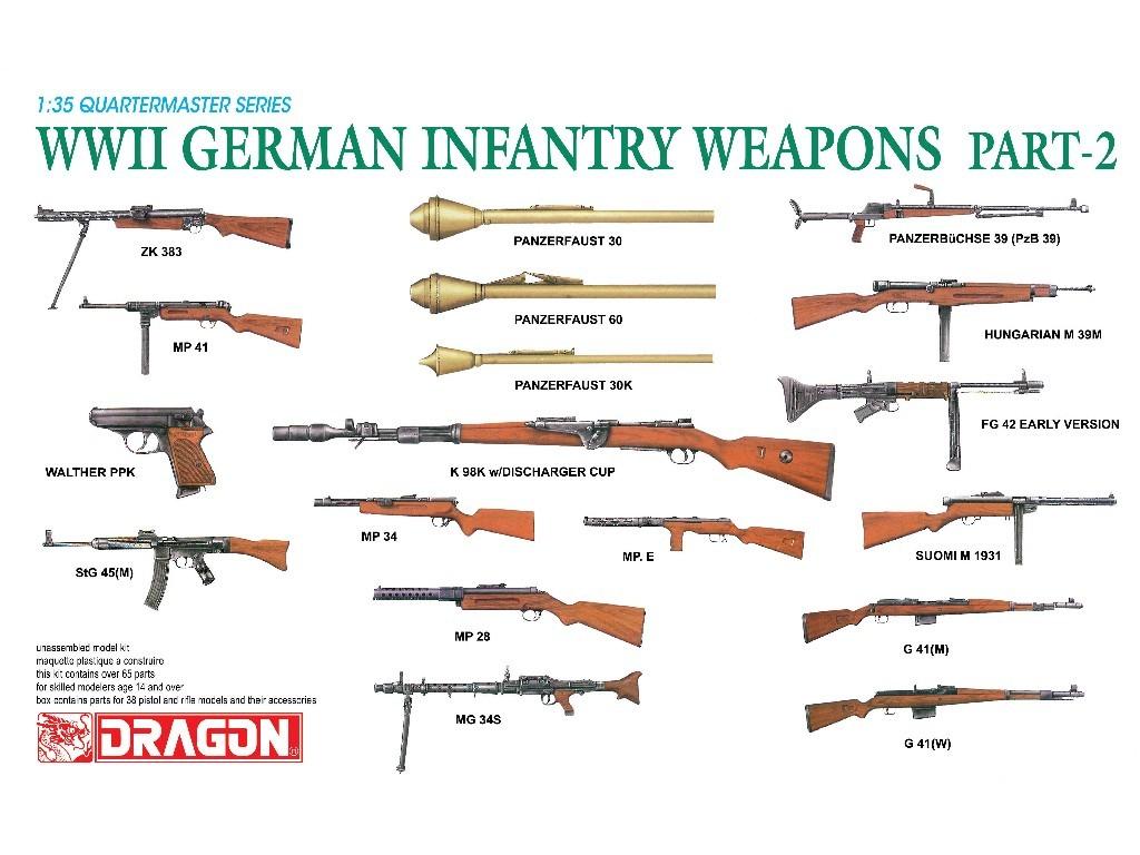 1/35 Plastikový model - zbrane 3816 - WWII German Infantry Weapons Part 2