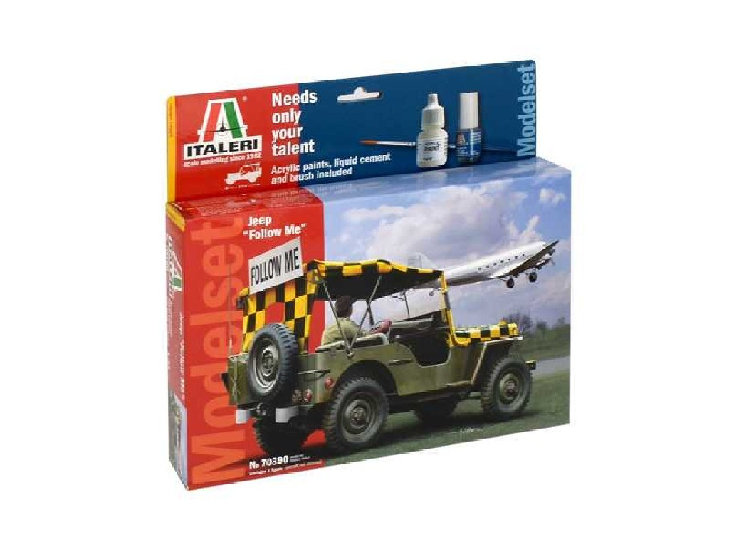 1/35 Model Set military 70390 - JEEP and FOLLOW MEand