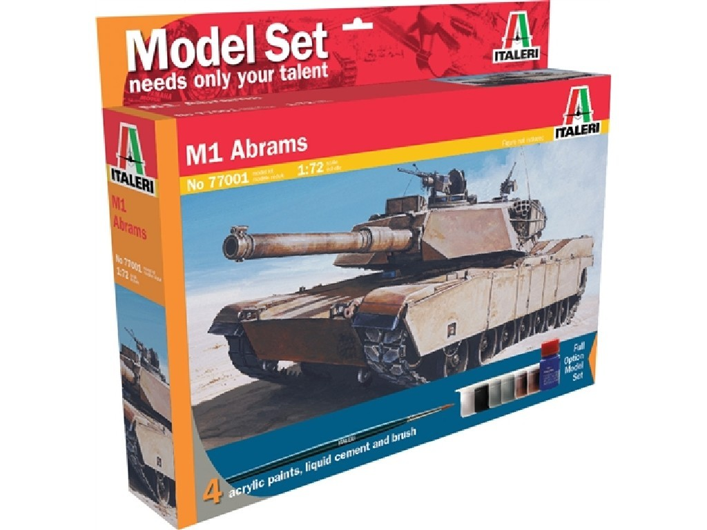 1/72 Plastikový model Set - tank 77001 - M1 Abrams