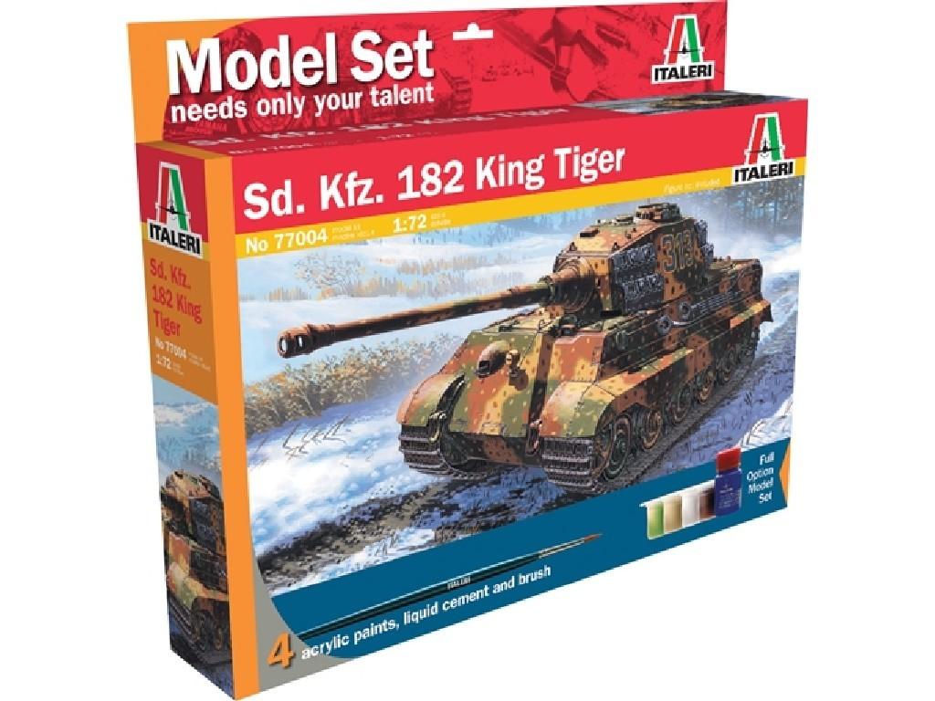 1/72 Plastikový model Set - tank 77004 - Sd.Kfz. 182 King Tiger (WWII)