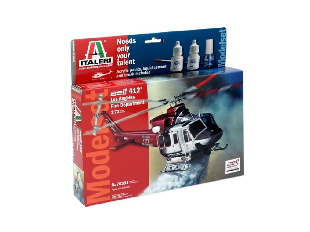 1/72 Model Set vrtulník 70391 - BELL 412 LAFD