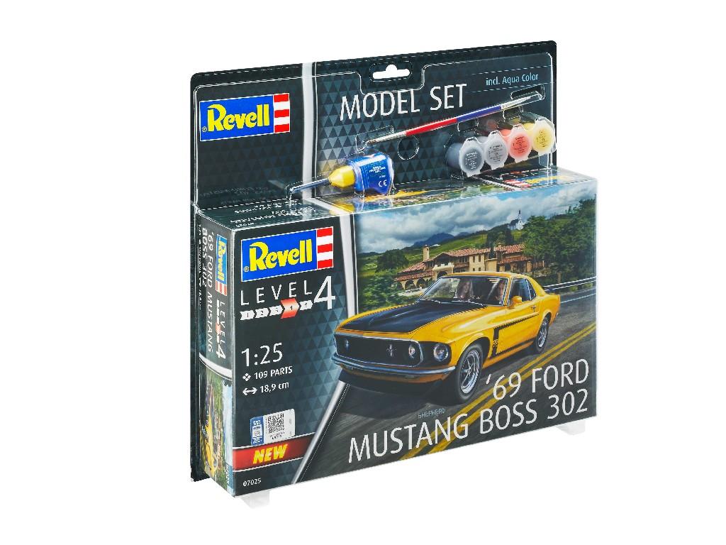 1/25 Plastikový model Set - auto 67025 - 1969 Boss 302 Mustang