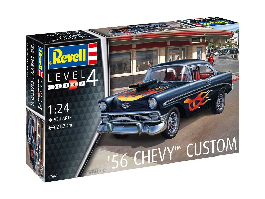 1/24 ModelSet auto 67663 - 56 Chevy Customs