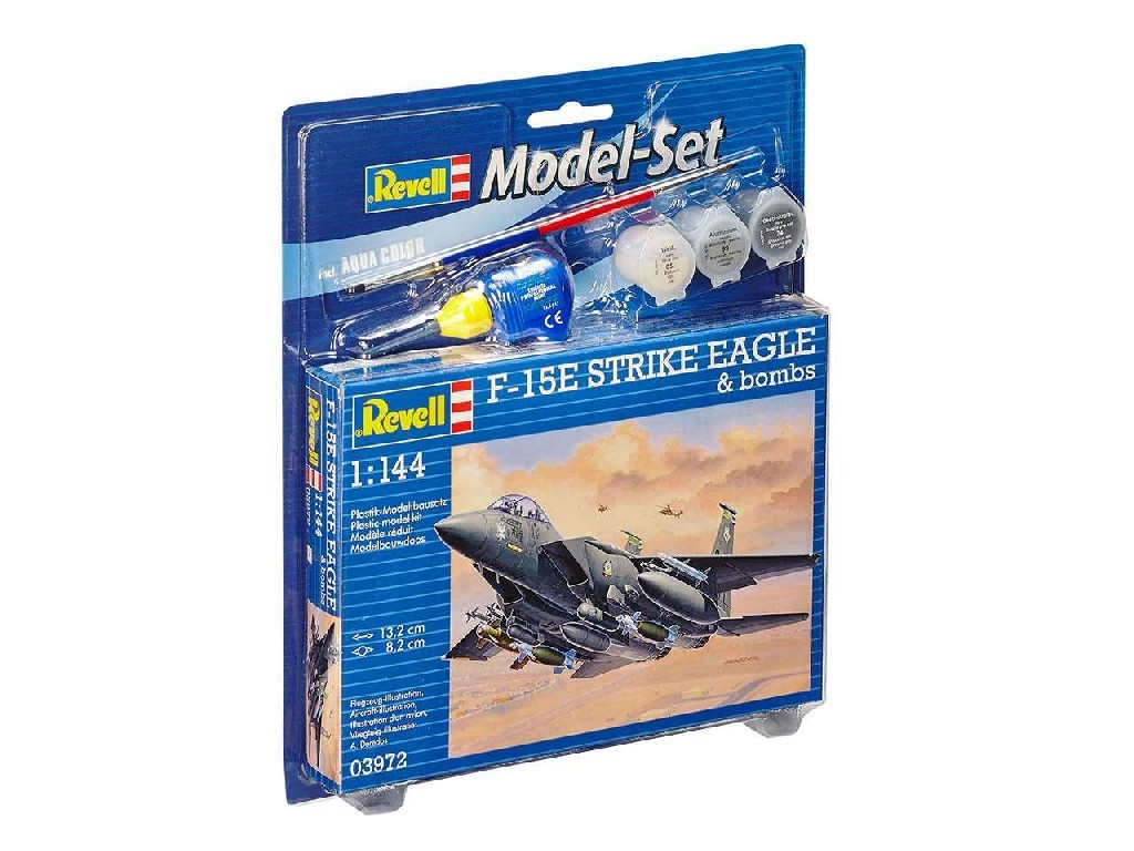 1/144 Plastikový model Set - letadlo 63972 - F-15E Strike Eagle and bombs
