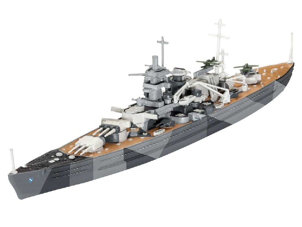 1/1200 Plastikový model Set - loď 65136 - Battleship Scharnhorst