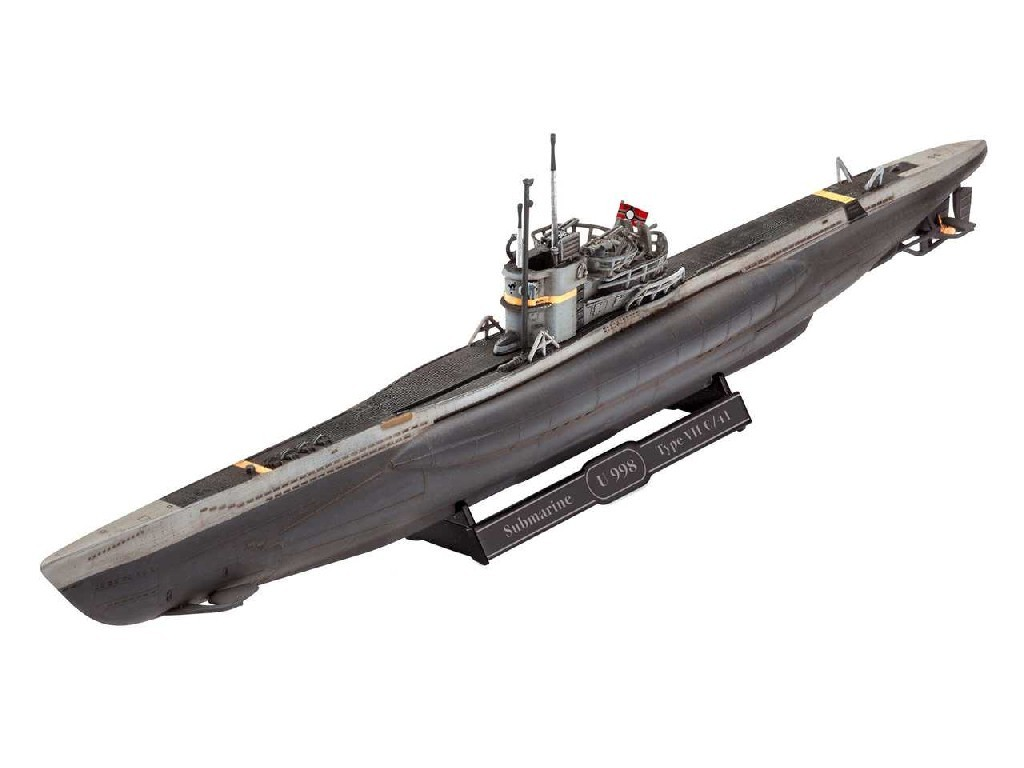 1/350 ModelSet ponorka 65154 - German Submarine Type VII C/41