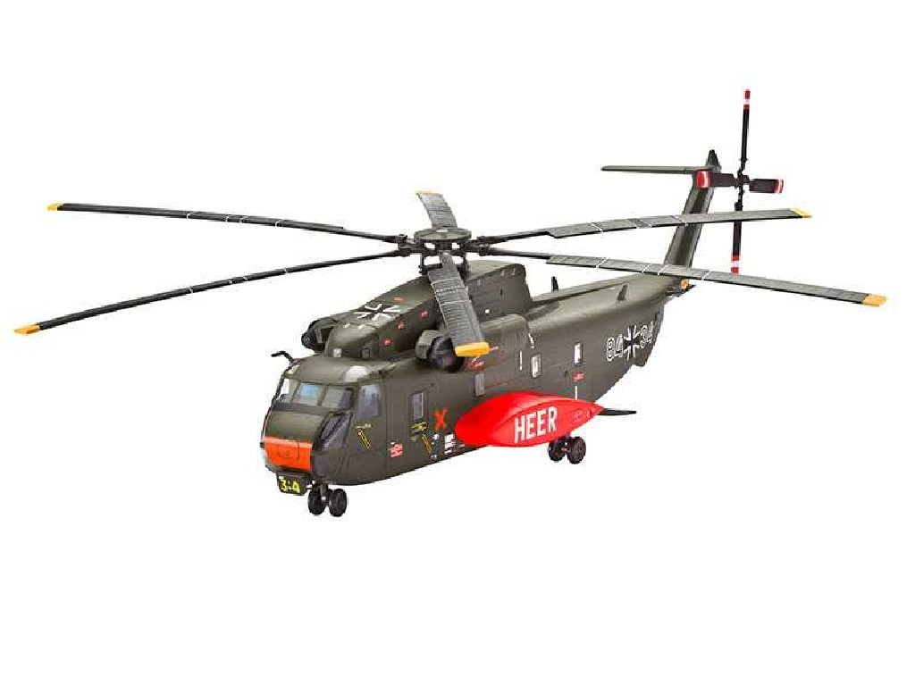 1/144 Plastikový model Set - vrtulník 64858 - CH-53G Heavy Transport Helicopter