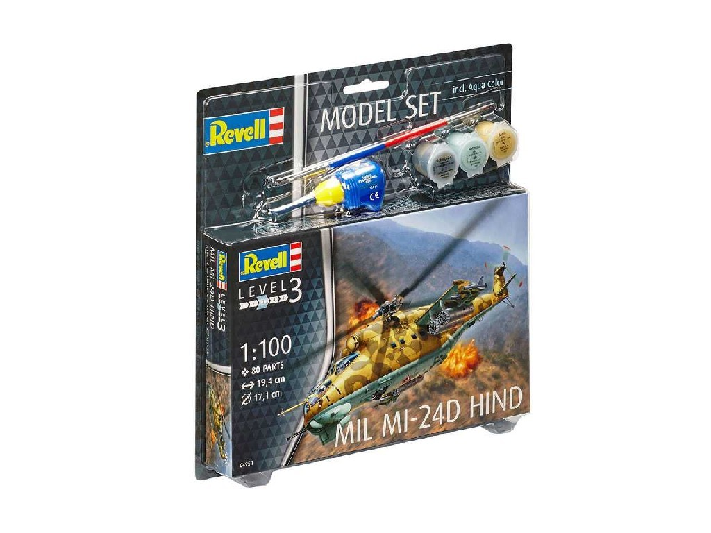 1/100 ModelSet vrtulník 64951 - Mil Mi-24D Hind
