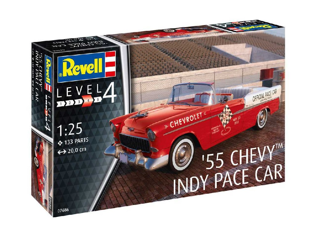 1/25 Modelset auto 67686 - 55 Chevy Indy Pace Car