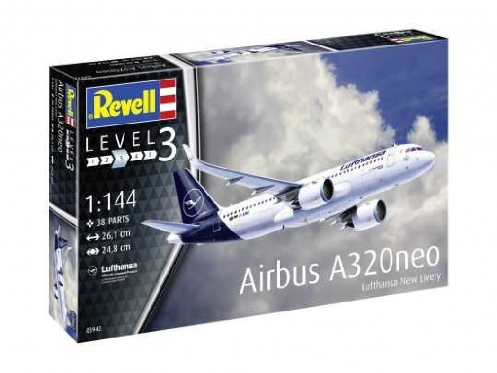 1/144 Modelset letadlo 63942 - Airbus A320 neo Lufthansa