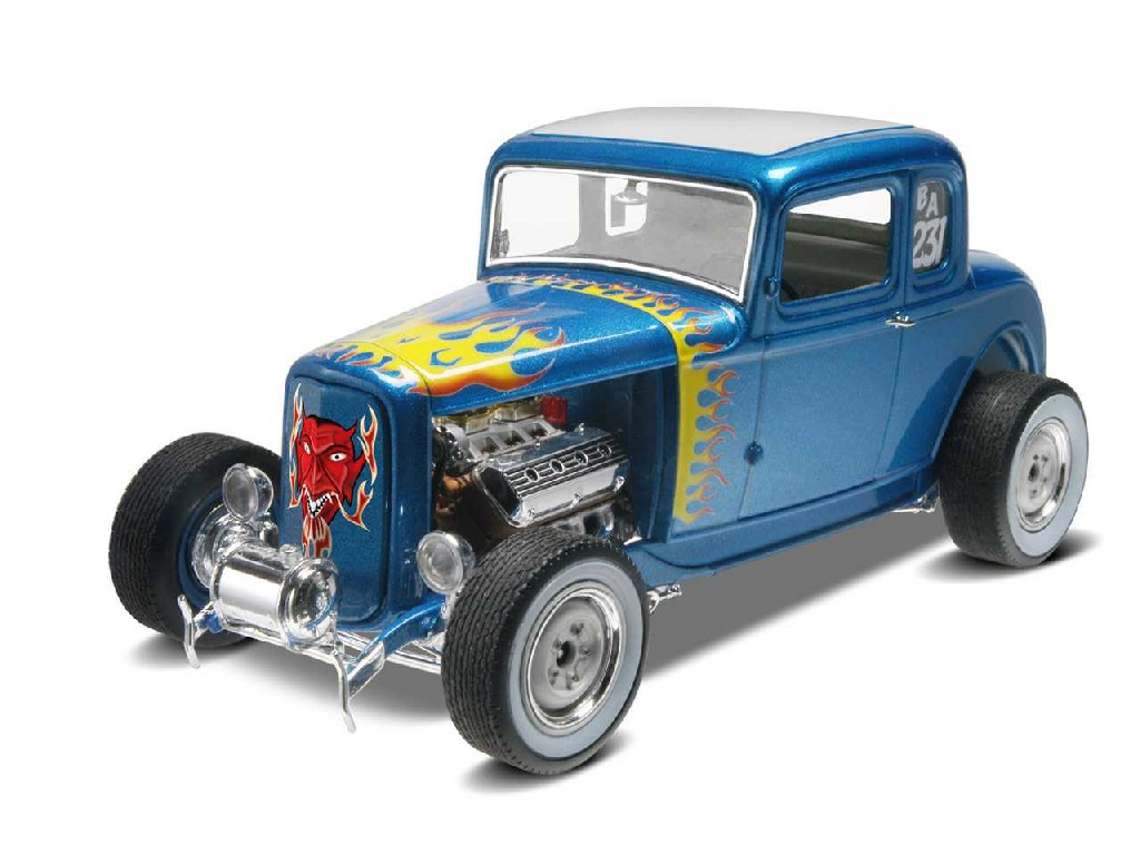 1/25 Plastikový model - Monogram auto 4228 - 32 Ford 5 Window Coupe