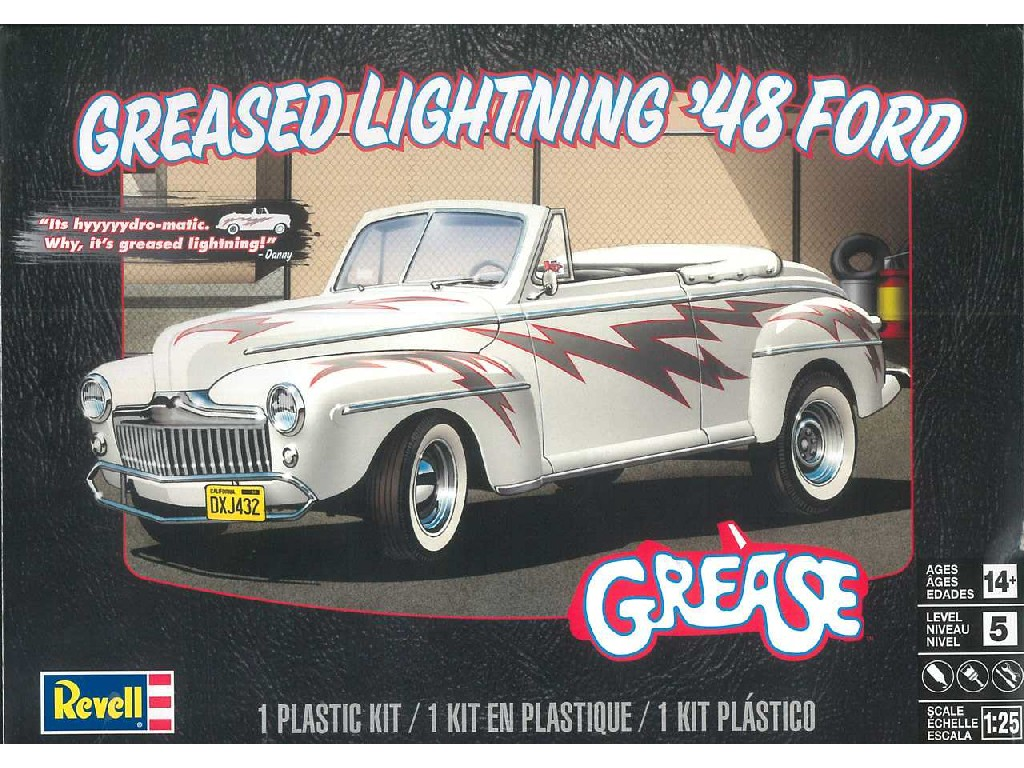 1/25 Plastikový model - Monogram auto 4443 - Greased Lightning 48 Ford Convertible