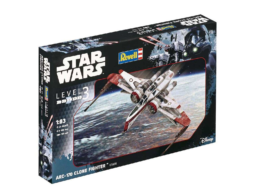 1/83 Plastikový model - SW 03608 - ARC-170 Clone Fighter