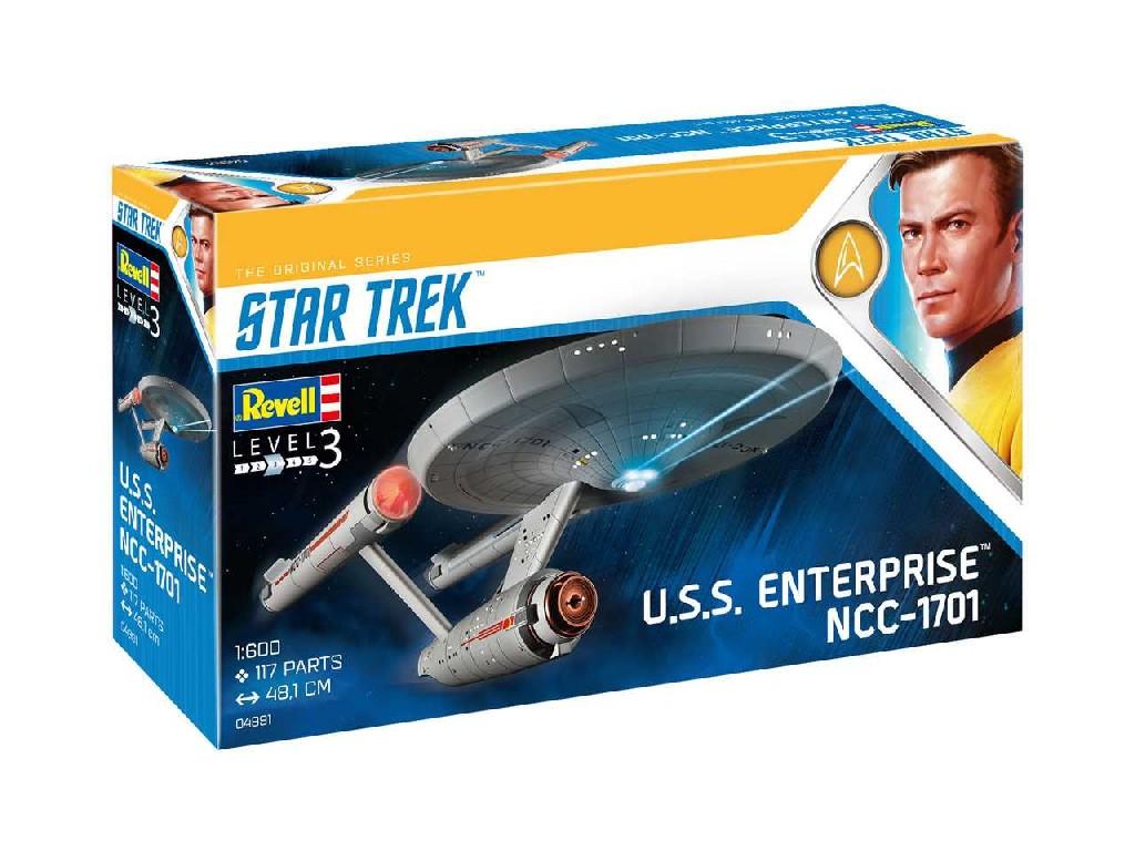1/600 Plastikový model - Star Trek 04991 - U.S.S. Enterprise NCC-1701 (TOS)