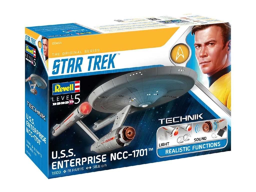1/600 Plastikový model - Technik Star Trek 00454 - USS Enterprise NCC-1701